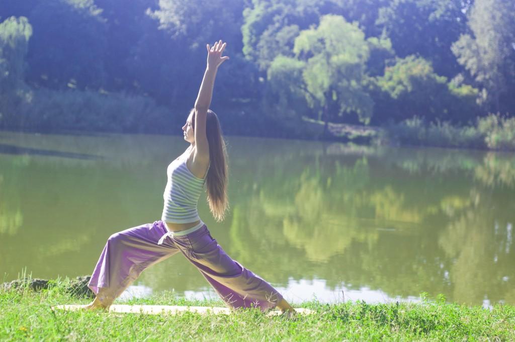 Кристина Мелинте, утренняя йога