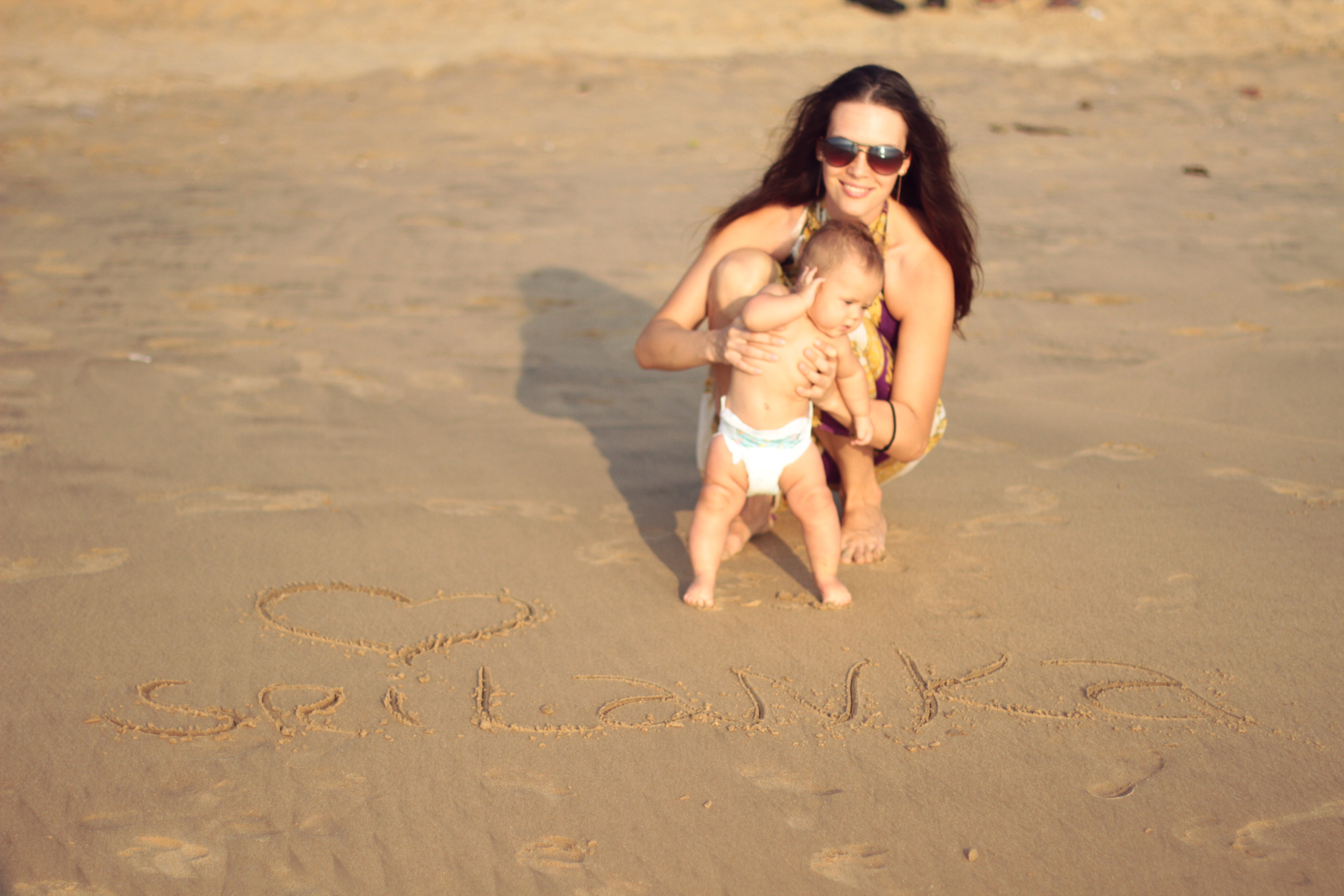 с маленьким ребёнком на Шри-Ланку