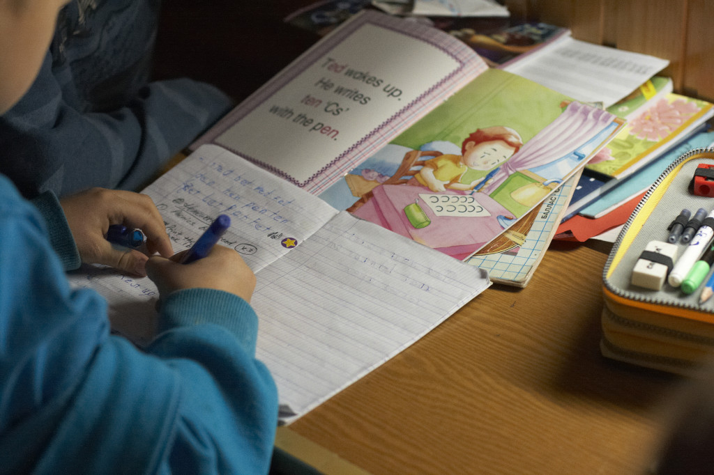 школа Сергея Мокана, английский язык прописи