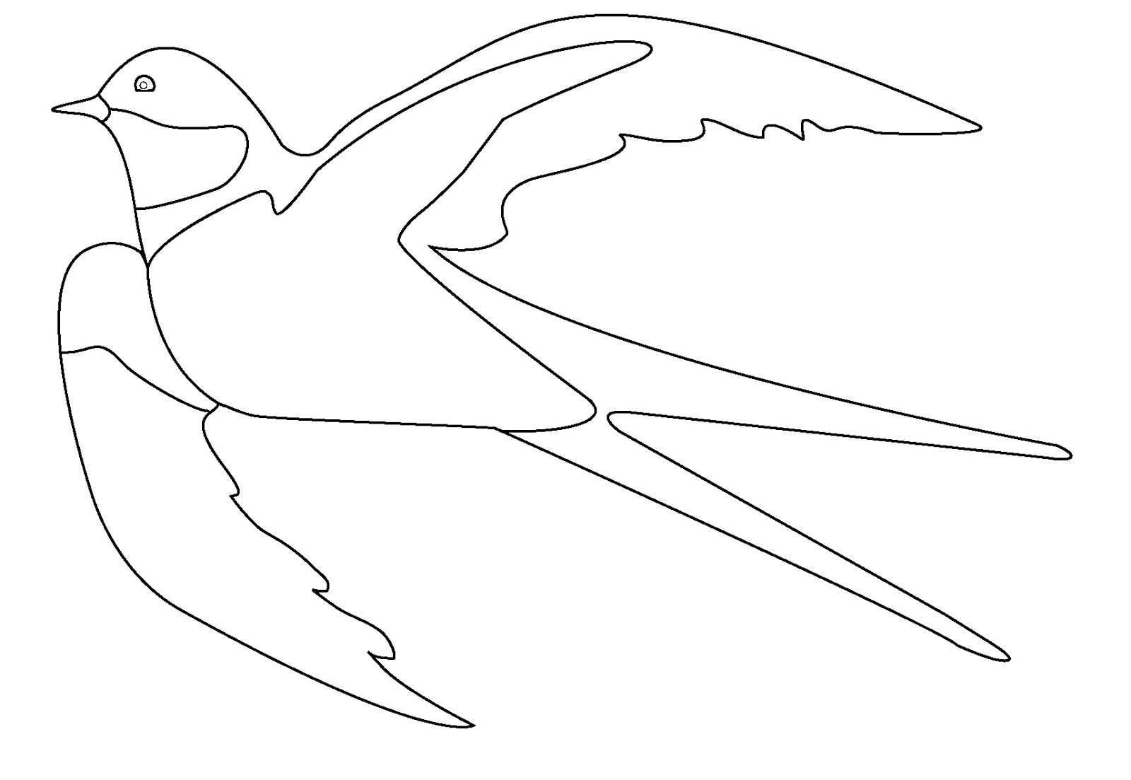 Летят птицы раскраска