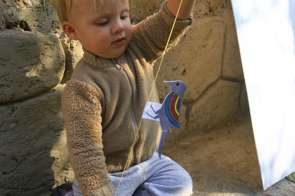 дятел на резинке игрушка своими руками