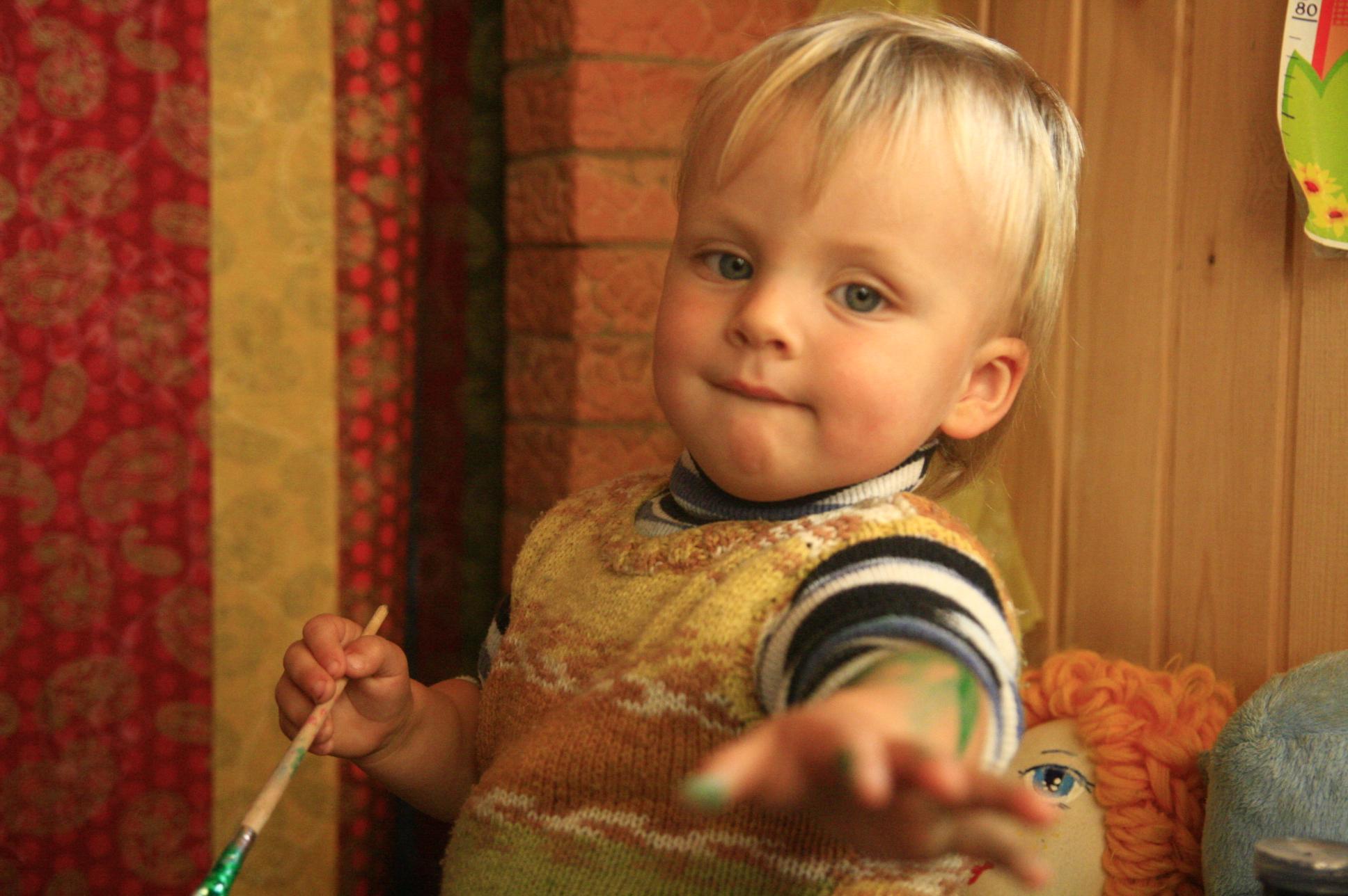 раннее развитие ребёнка краски
