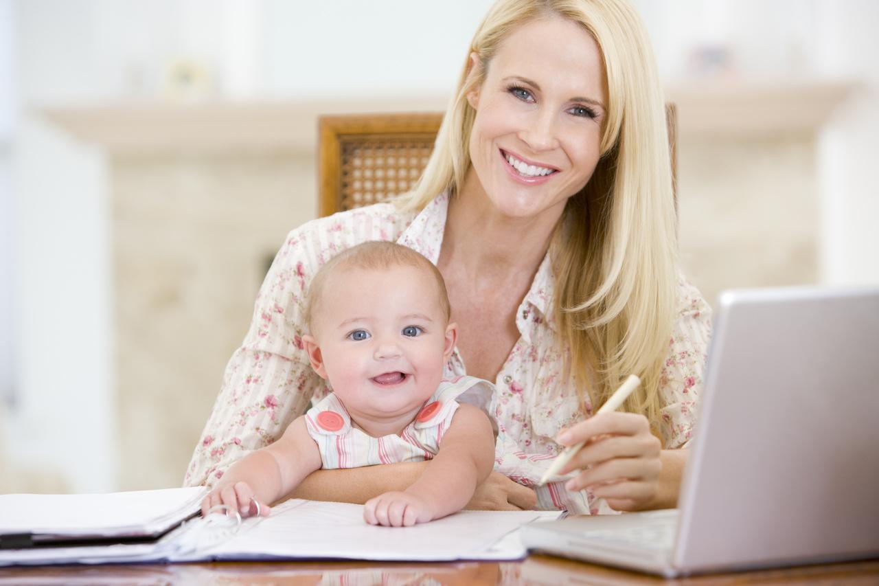 бизнес мама, работа в декрете