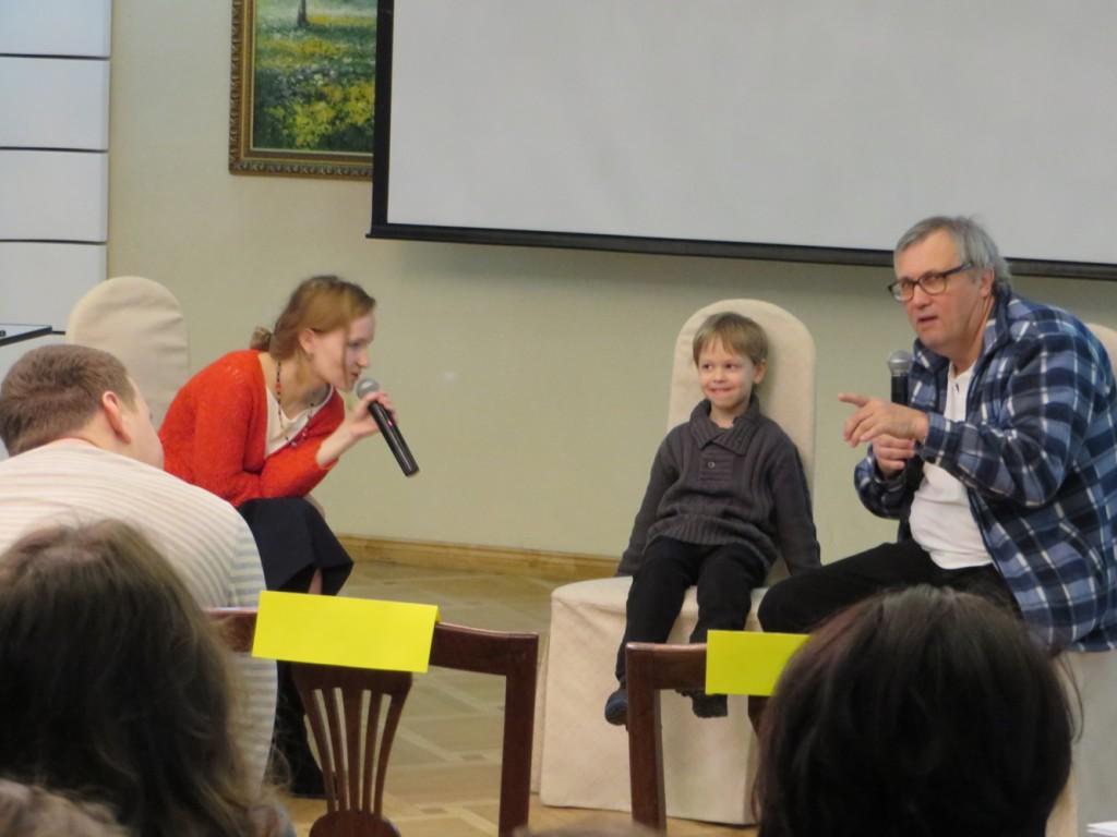 Оскар Бренифье работает с ребёнком