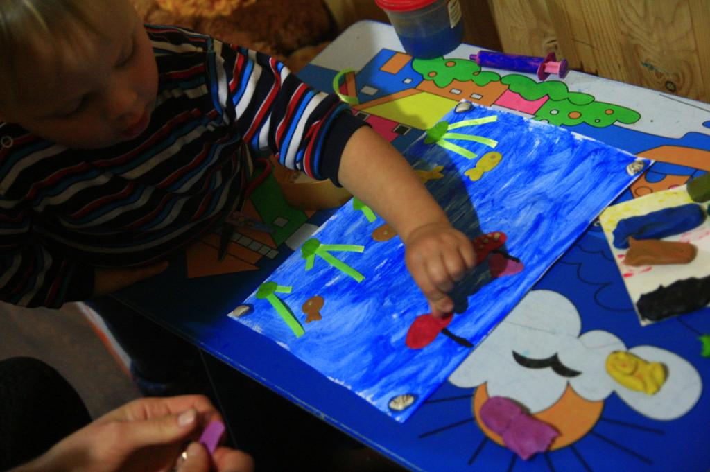 аппликация море для ребёнка