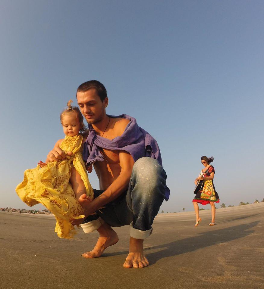 на море с ребёнком