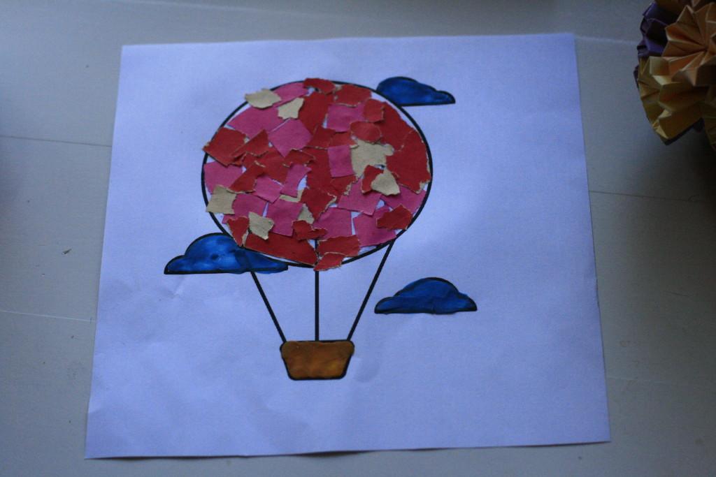 аппликация воздушный шар