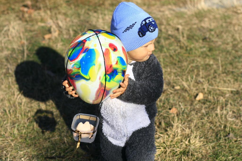 воздушный шар поделки для ребёнка