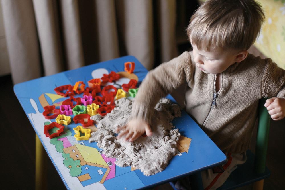 кинетический песок развивающая игрушка