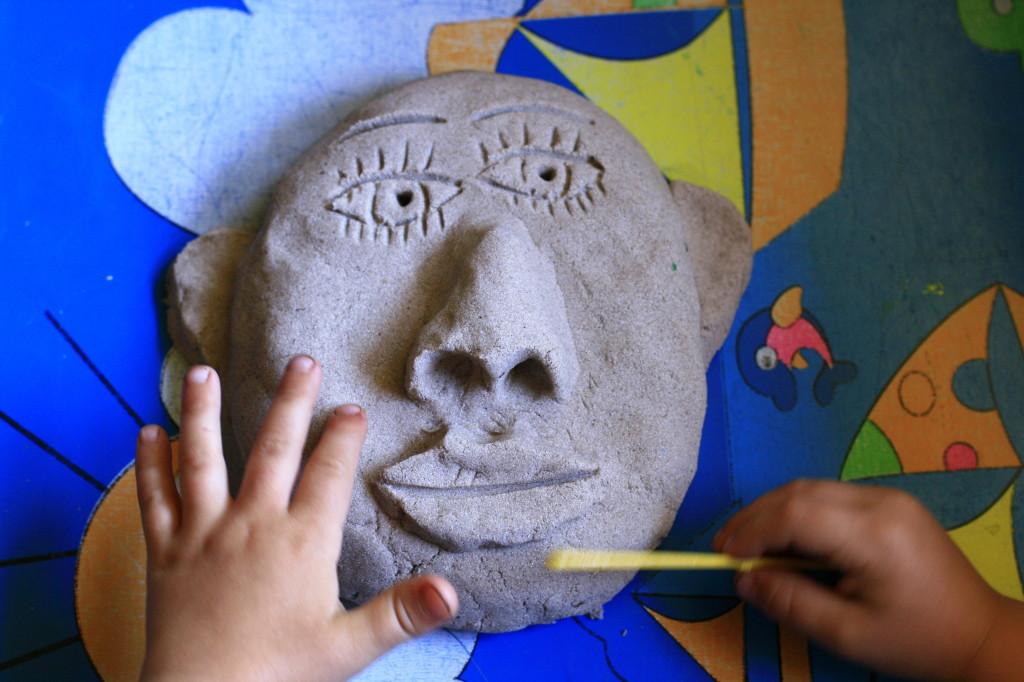 кинетический песок скульптура