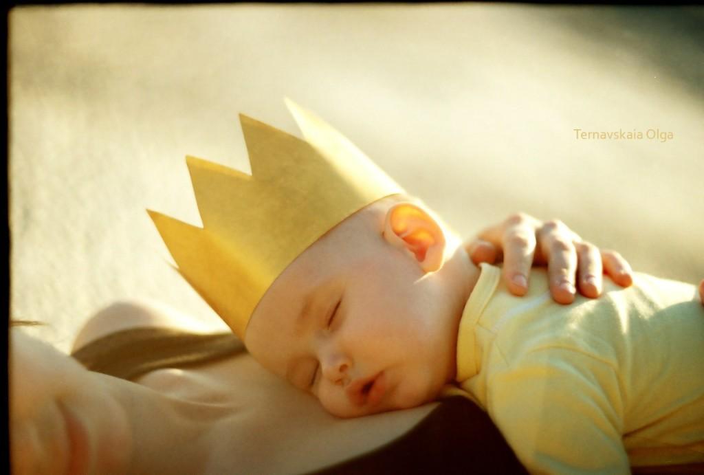 детская фотосессия, спящий ребёнок