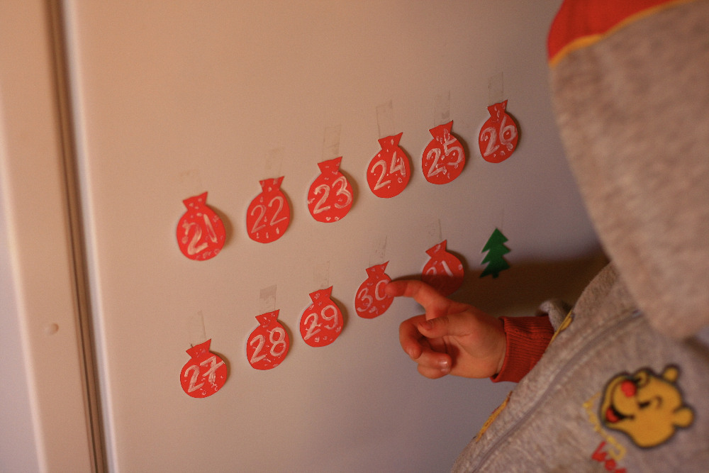 новогодний календарь для ребёнка своими руками