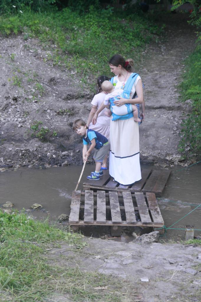 с детьми на природе