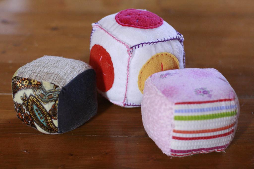 кубики из ткани своими руками