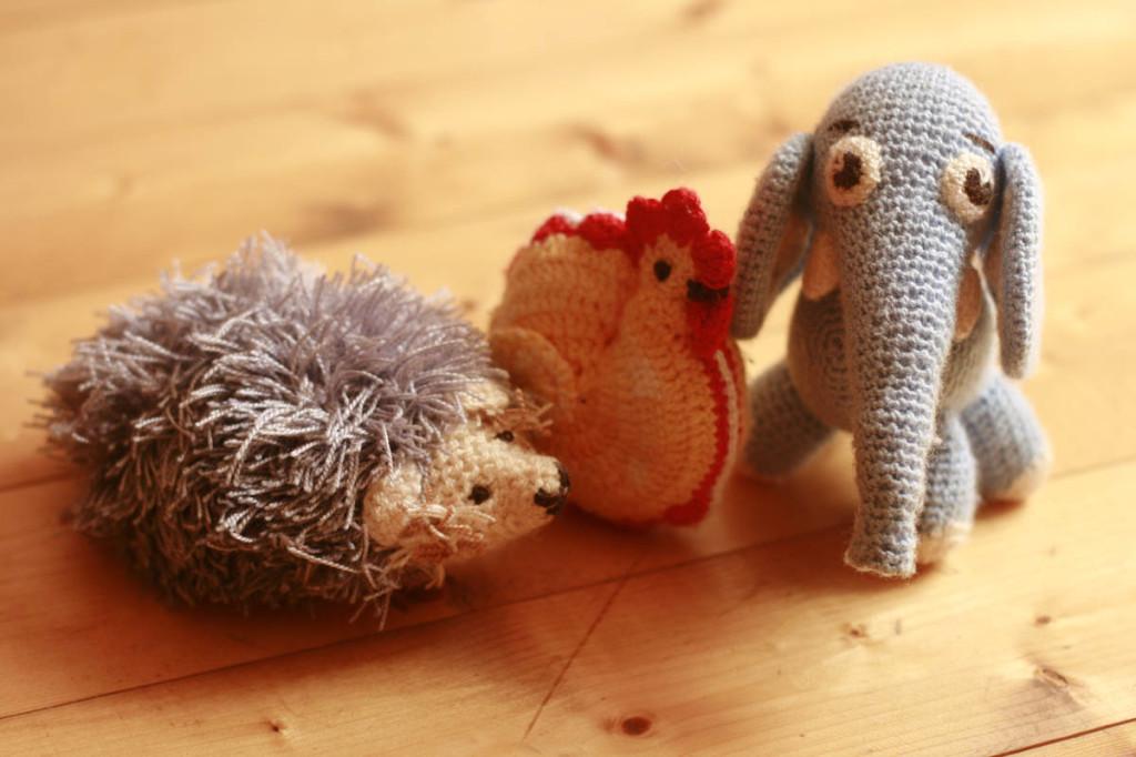 вязаные игрушки звери для ребёнка