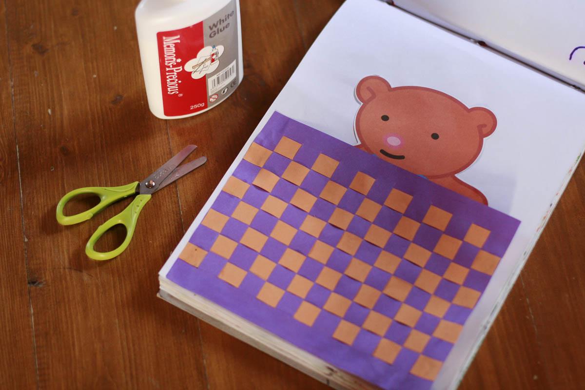 плетёнка из бумаги для ребёнка