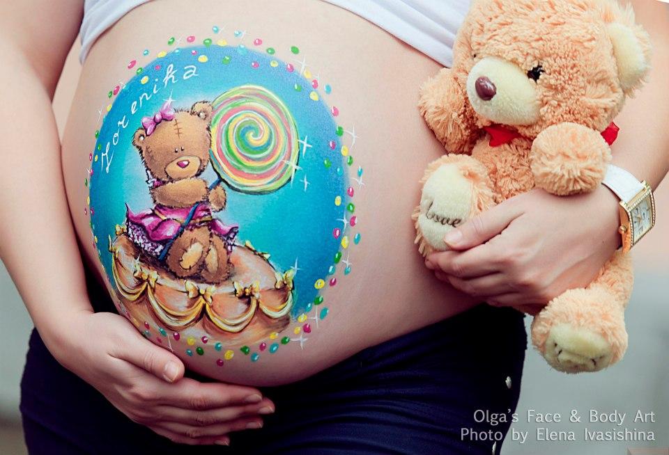 беременная боди-арт