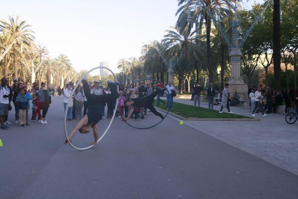 уличные артисты Барселона