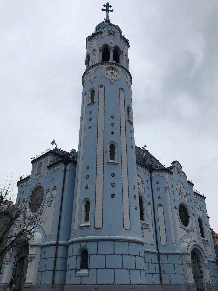 голубой костёл Елизаветы Братислава