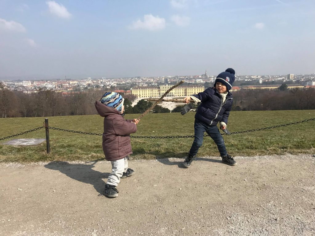 дети в Шёнбрунне