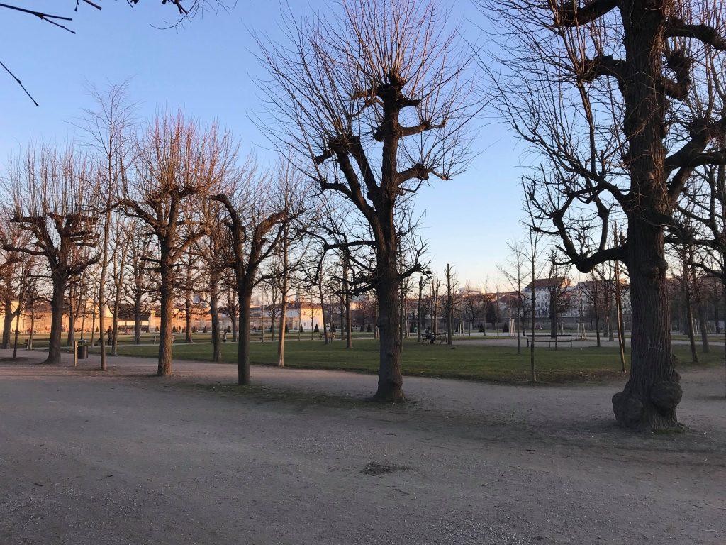 парк Аугартен Вена