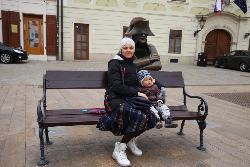 памятник наполеоновскому солдату Братислава