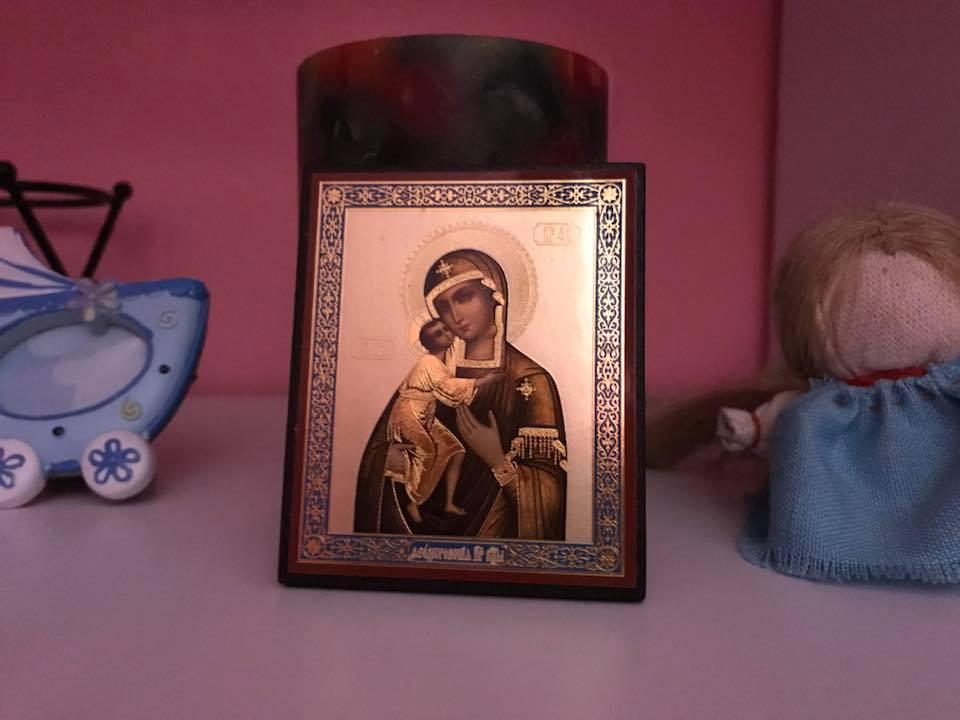 икона Божья матерь с Иисусом