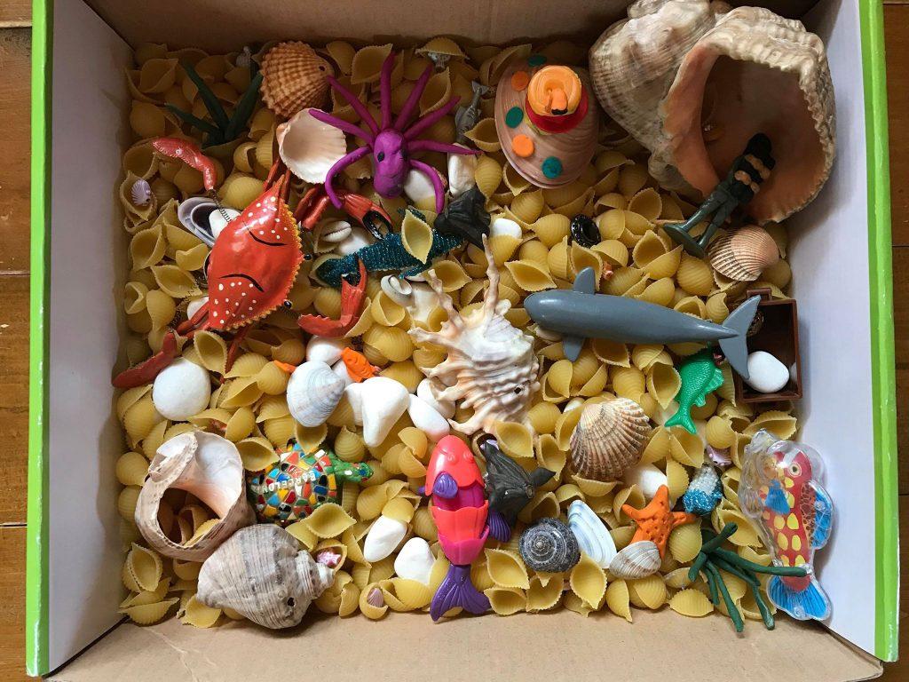 сенсорная коробка море