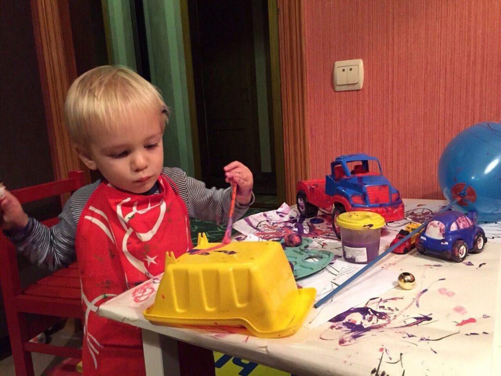 игры с красками для детей